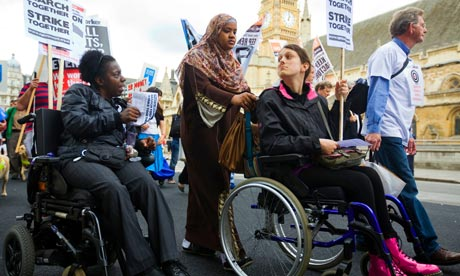 disabled people protest benefit cuts