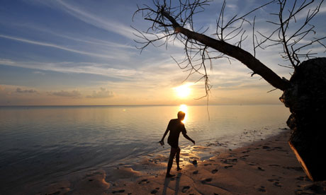 indonesia beach sunset