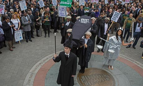 lawyer protest legal aid