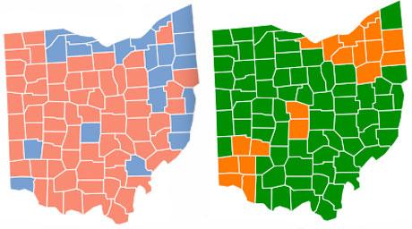 Ohio voting maps