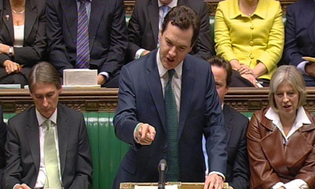 George Osborne speaks after Alistair Darling delivered his annual pre-budget report