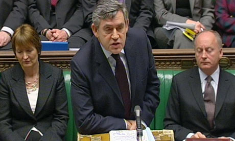 Gordon Brown speaks during Prime Minister's Questions