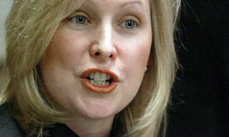 Kirsten Gillibrand answers questions during a Town Hall public meeting