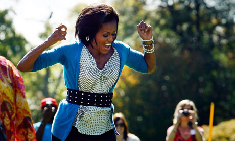 Michelle Obama on the South Lawn of the White House