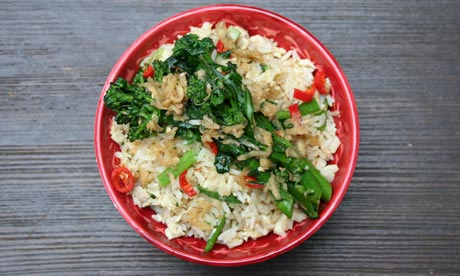 Allegra McEvedy's weekly recipe: Egg fried rice with ginger-dressed ...