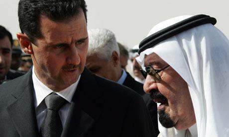 Saudi Arabia's King Abdullah welcomes Syria's President Bashar al-Assad