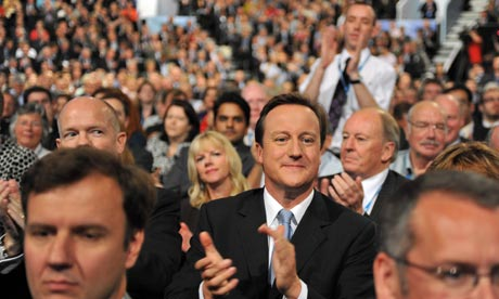 Conservative conference, Manchester, Cameron