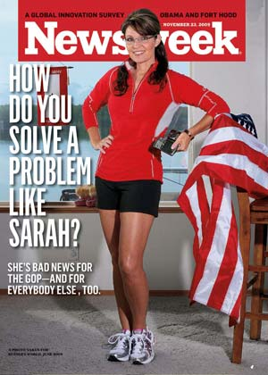 Sarah Palin has war-of-words with Newsweek about their front cover