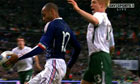 Television footage captures the moment Thierry Henry handled the ball