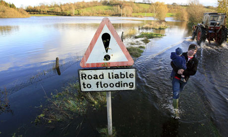 Flooding in the village of Boho, CoFermanagh