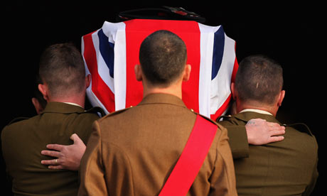 Tributes to British soldiers killed in Afghanistan