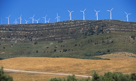 Wind farm in Andalusia, Spain