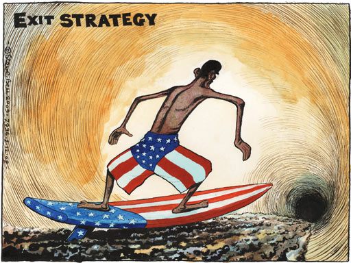 EXIT STRATEGY - Barack Obama's war: the final push in Afghanistan by Steve Bell