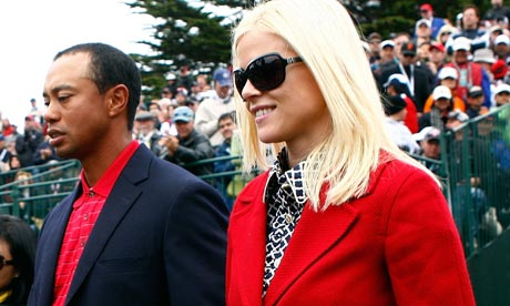 tiger woods wife images. Tiger Woods and his wife Elin
