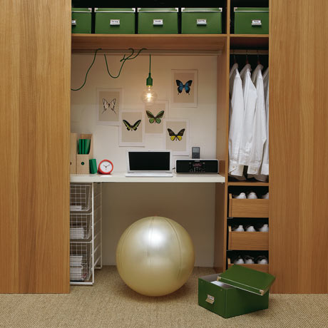 home office: wardrobe