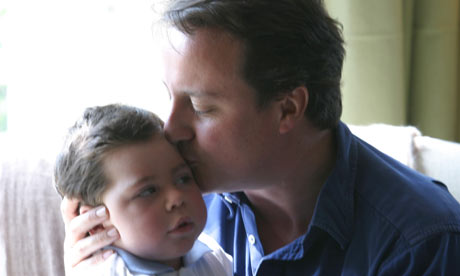 David Cameron with son Ivan
