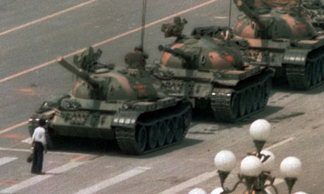 Tiananmen Square protestor in 1989