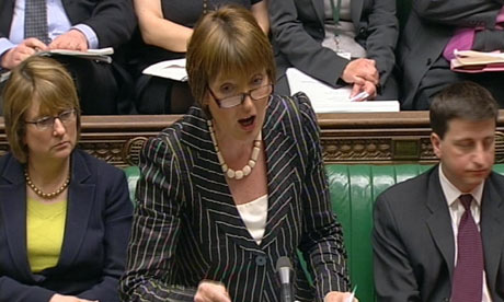 Harriet Harman speaks during Prime Minister's Questions in the House of Commons