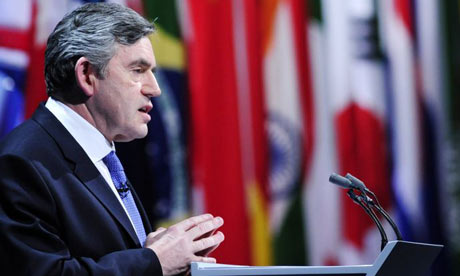 British Prime Minister Gordon Brown is pictured during the closing press conference