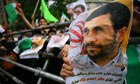 Supporters of Mahmoud Ahmadinejad at a rally in Tehran