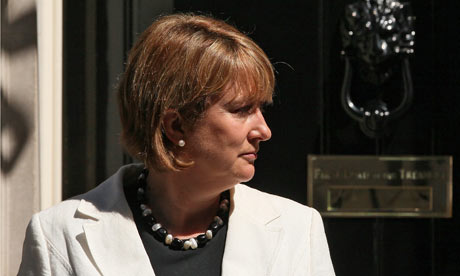 Jacqui Smith leaves Downing Street after the weekly cabinet meeting
