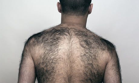 Rear view of a man with a hairy back. Photograph: Jonathan Kitchen ...