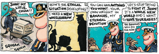 Steve Bell: How's the ethical situation developing?