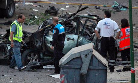 Car bomb in Burgos, Spain