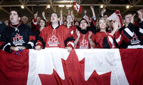 Canadian supporters at the Bocuse d'Or