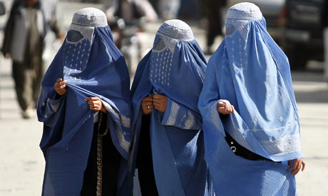 Women in Islamic dress, wearing the burka, Afghanistan