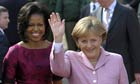 Barack Obama, Michelle Obama and Angela Merkel