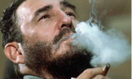 Fidel Castro TV series charts 638 assassination attempts | World news | The Guardian - Fidel-Castro-smoking-ciga-001