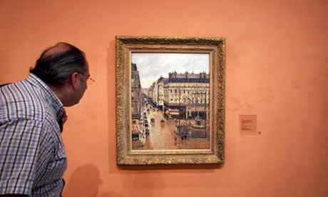 Camille Pissarro's painting in a Madrid museum
