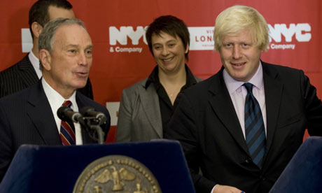 Boris Johnson and Michael Bloomberg