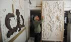 Geoffrey Preston, a decorative stucco plasterer, pictured at his studio in Exeter, Devon