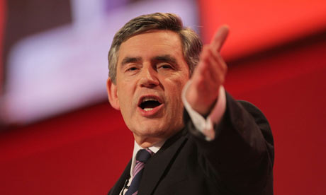 Gordon Brown delivers his keynote speech at the Labour Party Conference