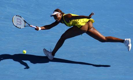 Venus Williams at the Australian Open, 2010