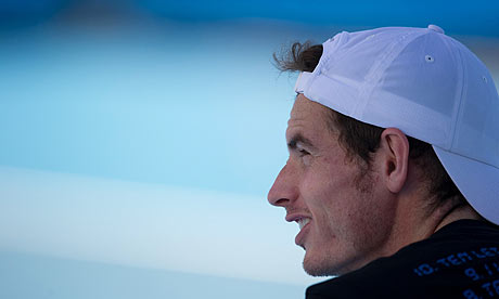 Andy Murray during his training session at Melbourne Park.