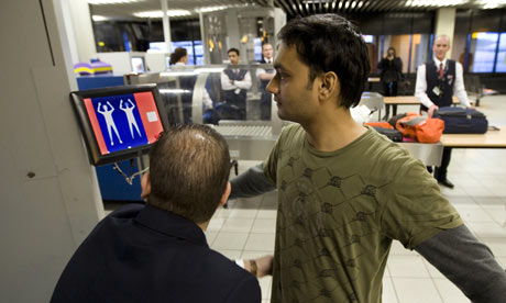 a security scan at Schiphol airport