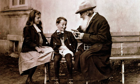 Leo Tolstoy with his grandchildren