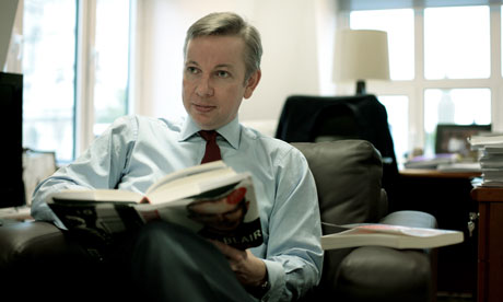 michael gove, education minister, reading Tony Blair's A Journey