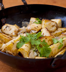 Parsnips with cardamom and yoghurt