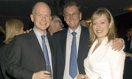 William Hague and his wife Ffion with Lord Ashcroft