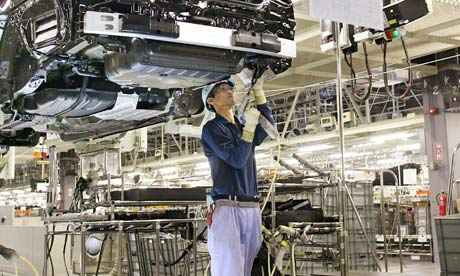 (FILE) A worker at Japan's auto giant To