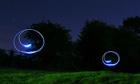 Light circles in garden