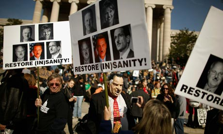 Marchers at the Rally to Restore Sanity in Washington