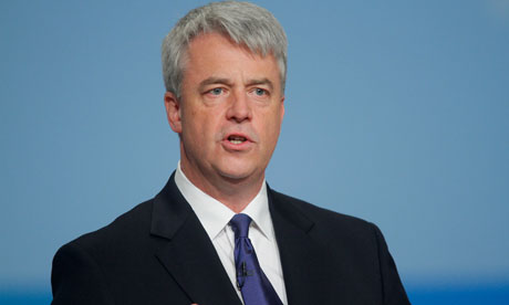 Health secretary, Andrew Lansley at the Conservative conference 2010