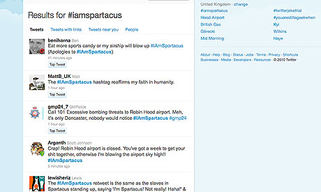 #IAmSpartacus has become one of the fastest-trending phrases on Twitter
