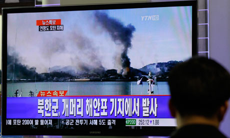 North Korea shells South Korean island