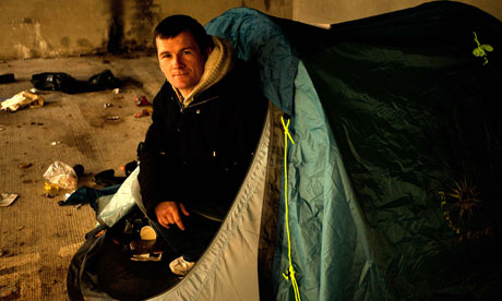 Malcolm Quigley, homeless in Dublin